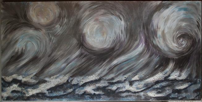 """Lake Ontario Storm"" 24x48"