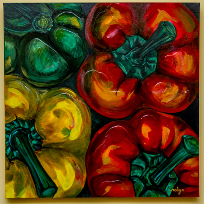 """Peppers"" 24x18"