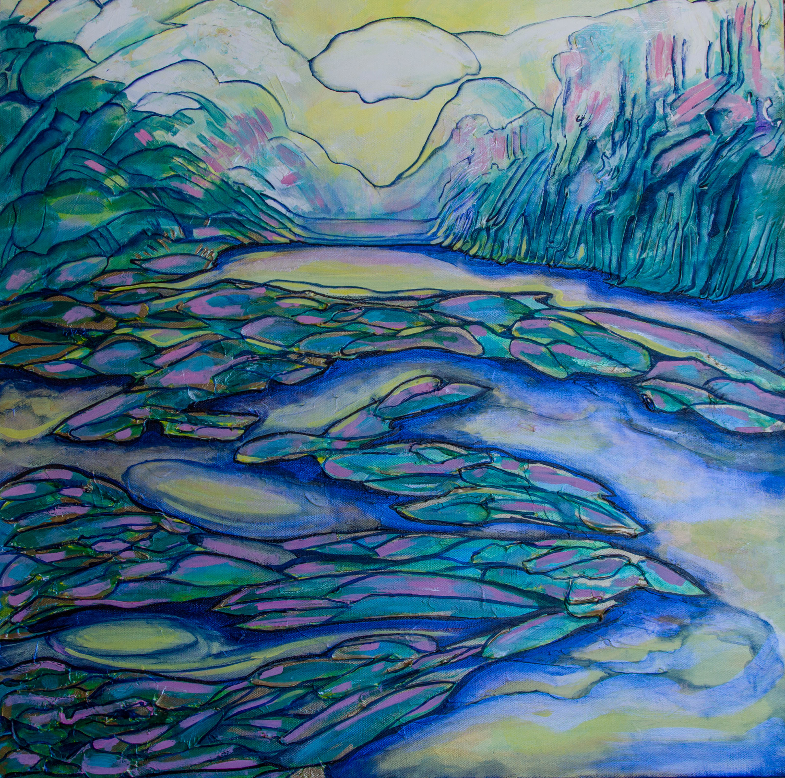 """""""Spruce Bog"""" 30x30 $750"""